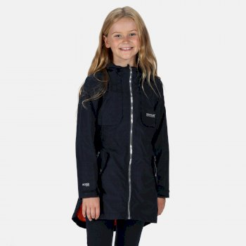 Kids' Tarana Waterproof Long Length Jacket Navy