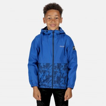 Kids' Haskel Waterproof Hooded Jacket Nautical Blue Camo