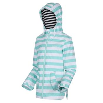 Kids' Bibiana Waterproof Hooded Jacket Aruba Blue Stripe