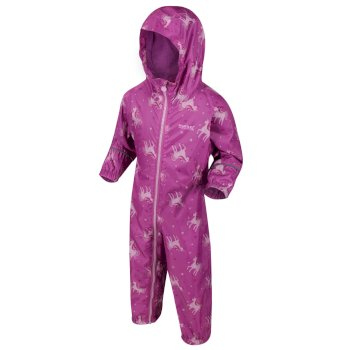 Kids' Pobble Waterproof Puddle Suit Radiant Orchid Pink