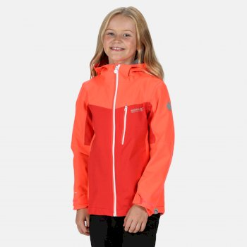 Kids' Highton Waterproof Jacket Fiery Coral Coral Blush
