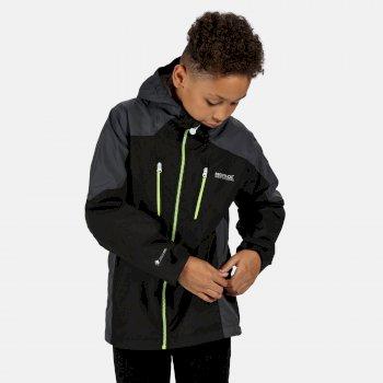 Kids' Calderdale Waterproof Jacket Black Seal Grey