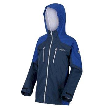 Kids' Calderdale Waterproof Jacket Dark Denim Nautical Blue