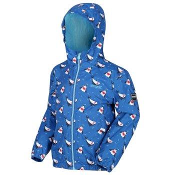 Kids' Ellison Printed Lightweight Waterproof Hooded Jacket Nautical Blue