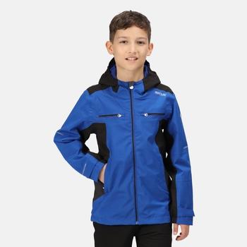 Kids' Highton Waterproof Jacket Surf Spray Black