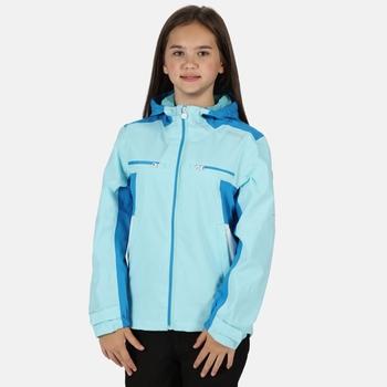 Kids' Highton Waterproof Jacket Cool Aqua Blue Aster