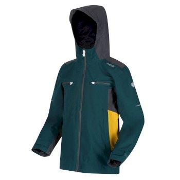 Dziecięca kurtka przeciwdeszczowa Highton Jacket II ciemnozielona