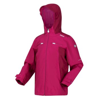 Kids' Highton Waterproof Jacket Fuchsia Raspberry Radiance