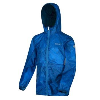 Dziecięca kurtka przeciwdeszczowa Bagley niebieska