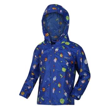 Dziecięca kurtka przeciwdeszczowa Peppa Pack It niebieska