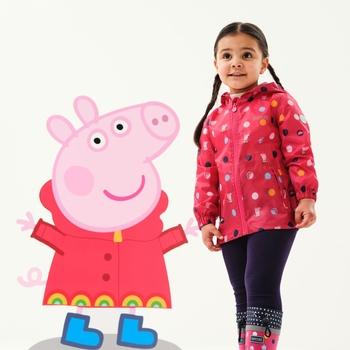 Dziecięca kurtka przeciwdeszczowa Świnka Peppa Pack It różowa