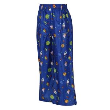 Dziecięce spodnie przeciwdeszczowe Peppa Pack It niebieskie