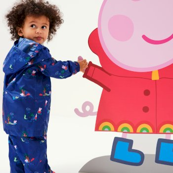 Peppa Pig Waterproof Pack-It Overtrousers New Royal