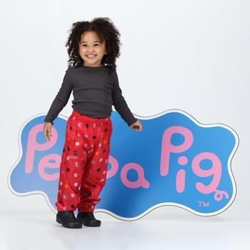 Peppa Pig Waterproof Pack-It Overtrousers Bright Blush Polka