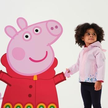 Peppa Pig Waterproof Animal Hood Jacket Pink Mist