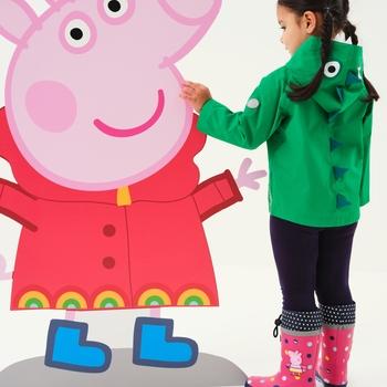 Peppa Pig Waterproof Animal Hood Jacket Jelly Bean Dinosaur