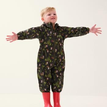Peppa Pig Pobble Waterproof Puddle Suit Dark Khaki