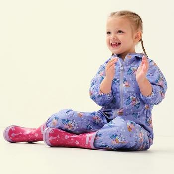 Peppa Pig Pobble Waterproof Puddle Suit Lilac Bloom