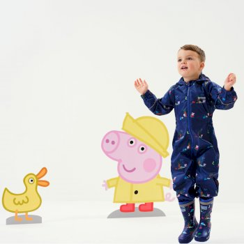 Peppa Pig Pobble Waterproof Puddle Suit New Royal