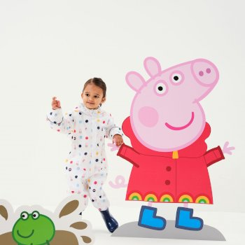 Peppa Pig Pobble Waterproof Puddle Suit White