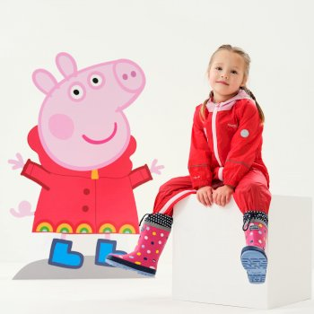 Peppa Pig Charco Breathable Waterproof Puddle Suit Pink Mist