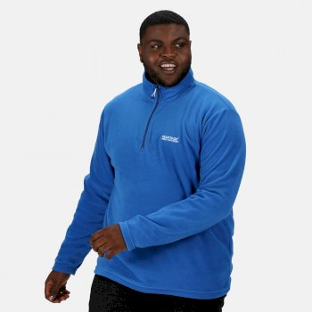 Men's Thompson Lightweight Half Zip Fleece Oxford Blue Navy