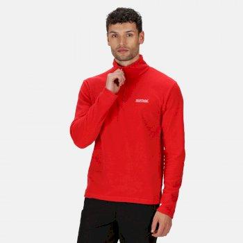 Men's Thompson Lightweight Half Zip Fleece True Red