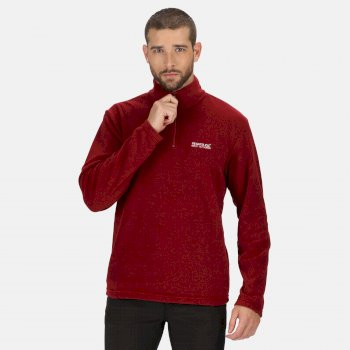 Men's Thompson Lightweight Half Zip Fleece Delhi Red