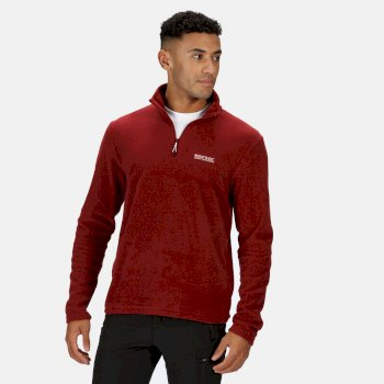 Men's Thompson Lightweight Half Zip Fleece Merlot