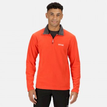 Men's Thompson Lightweight Half Zip Fleece Burnt Salmon