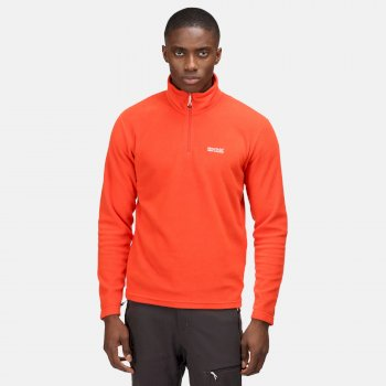 Men's Thompson Lightweight Half Zip Fleece Cajun Orange