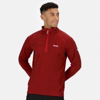 Men's Montes Lightweight Half Zip Fleece Chinese Red Black
