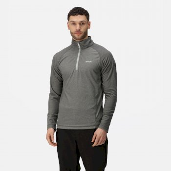 Men's Montes Lightweight Half Zip Mini Stripe Fleece Light Steel