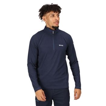 Men's Montes Lightweight Half Zip Fleece Dark Denim