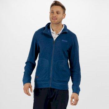 Ultar III Full Zip Mini Stripe Fleece Oxford Blue