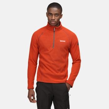 Men's Kenger Half Zip Midweight Fleece Cajun Orange