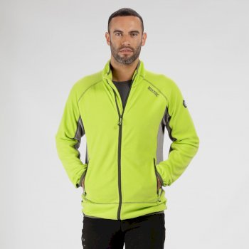 Ashton II Full Zip Fleece Lime Green Rock Green
