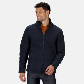 Men's Garrian Full Zip Heavyweight Fleece Navy Black