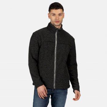 Men's Earvin Full Zip Mid Weight Fleece Seal Grey Marl