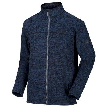 Men's Earvin Full Zip Fleece Blue Wing Black