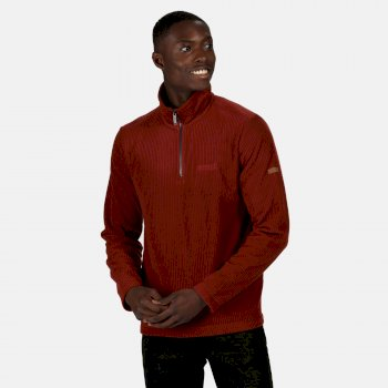 Men's Elgrid Half Zip Mid Weight Fleece Spiced Apple Rib