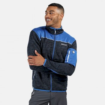 Men's Collumbus VI Heavyweight Full Zip Stretch Fleece Dark Denim Nautical Blue