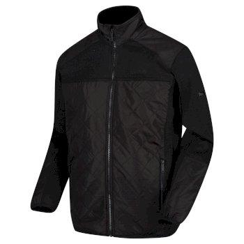 Men's Zavid Quilted Full Zip Fleece Black