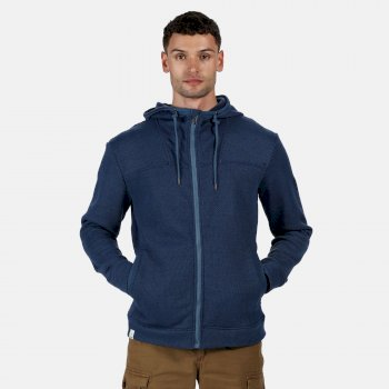 Men's Laszlo Mid Weight Full Zip Hooded Fleece Navy