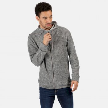 Men's Laszlo Mid Weight Full Zip Hooded Fleece Rock Grey