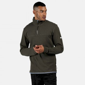 Men's Lauro Coolweave Half Zip Fleece Dark Khaki