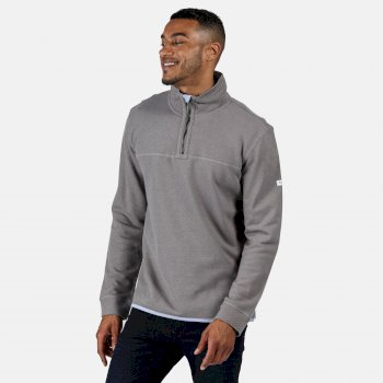 Men's Lauro Coolweave Half Zip Fleece Rock Grey