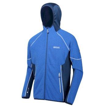 Men's Kinver Full Zip Hooded Stretch Fleece Oxford Prussian Blue