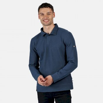 Men's Theon Coolweave Lightweight Sweatshirt Dark Denim