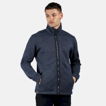 Men's Garret Heavyweight Knitted Full Zip Fleece Navy